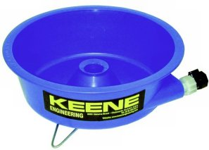 Keene Blue Bowl Gold Collecting
