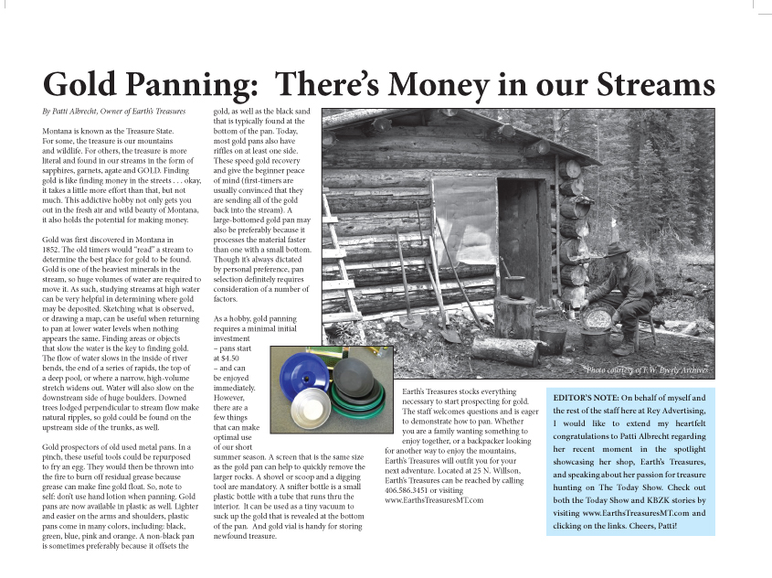 Gold Panning Article