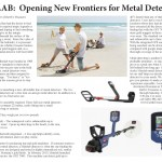 Minelab article, metal detecting