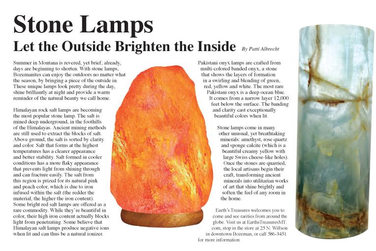 Stone Lamps, Salt Lamps Article